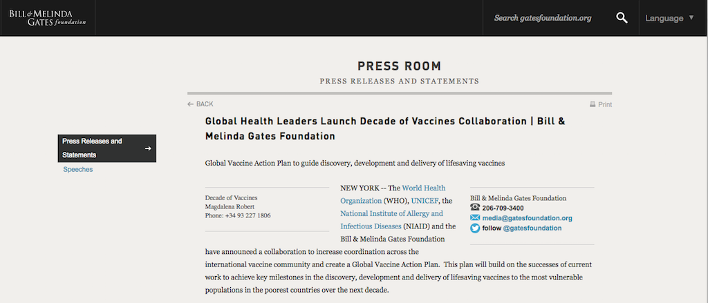Coronavirus Bill Gates Foundation Funds Vaccination
