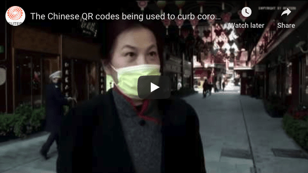 Covid Timeline - Chinese Use QR Codes for Contact Tracing