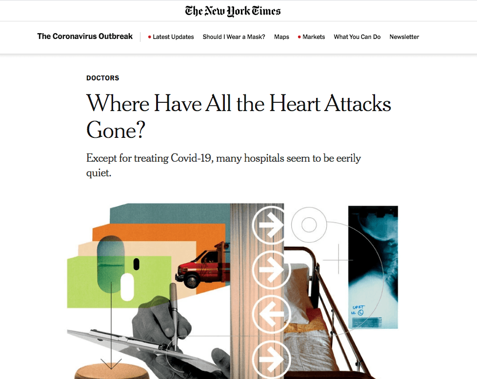NY Times - Where Have All The Heart Attacks Gone