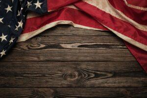 Time To Free America Flag Bg